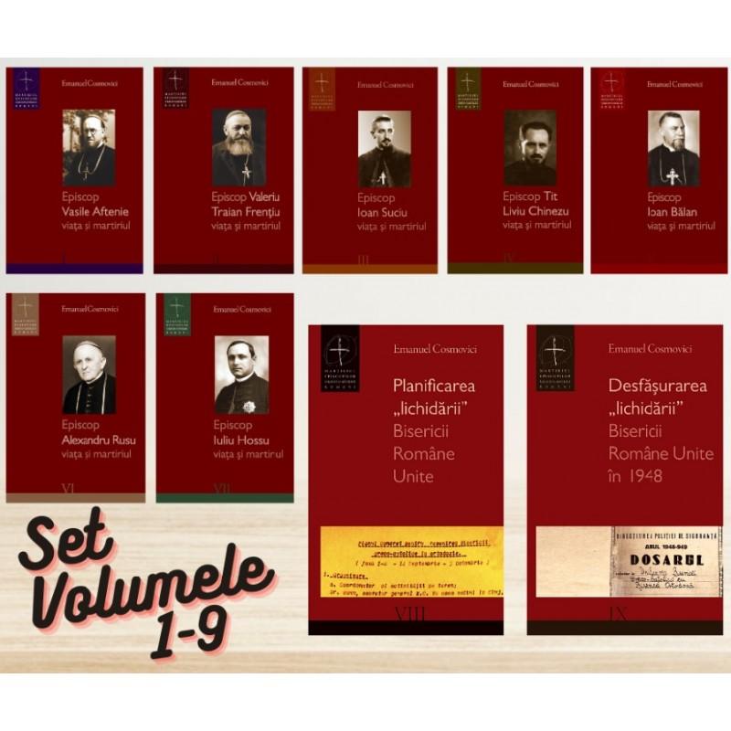 "Set 9 volume ""Martiriul Episcopilor Greco-Catolici"""