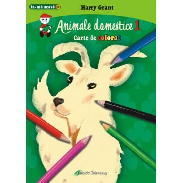 Animale domestice 1 - carte de colorat